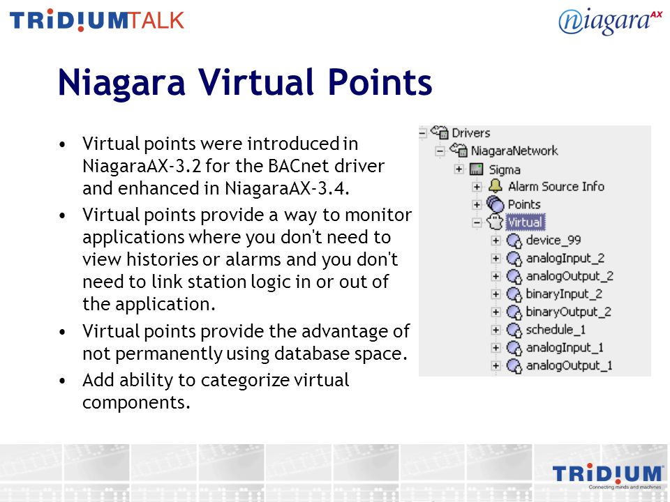 Niagara Virtual Points