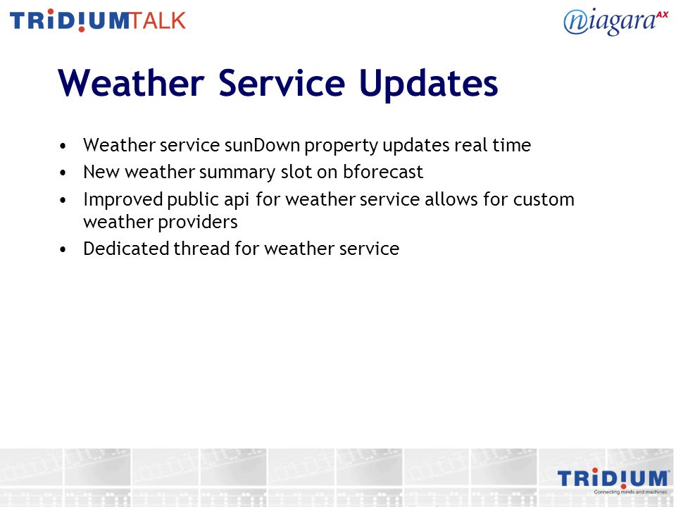 Weather Service Updates