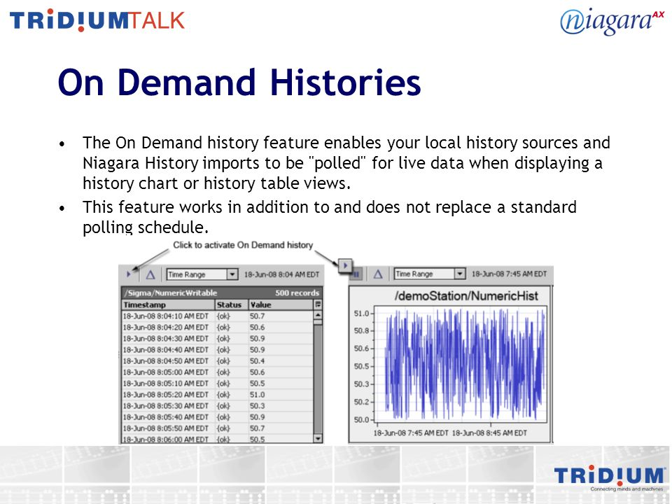 On Demand Histories