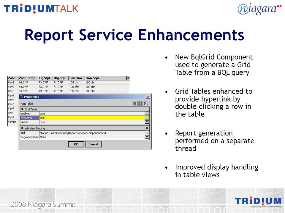 Report Service Enhancements