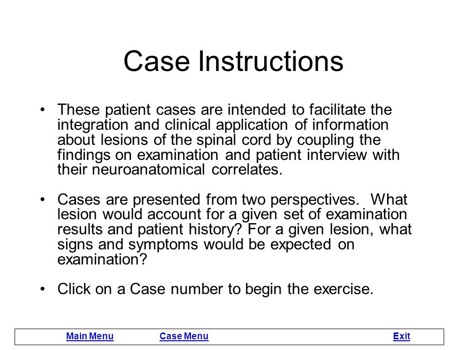 Case Instructions
