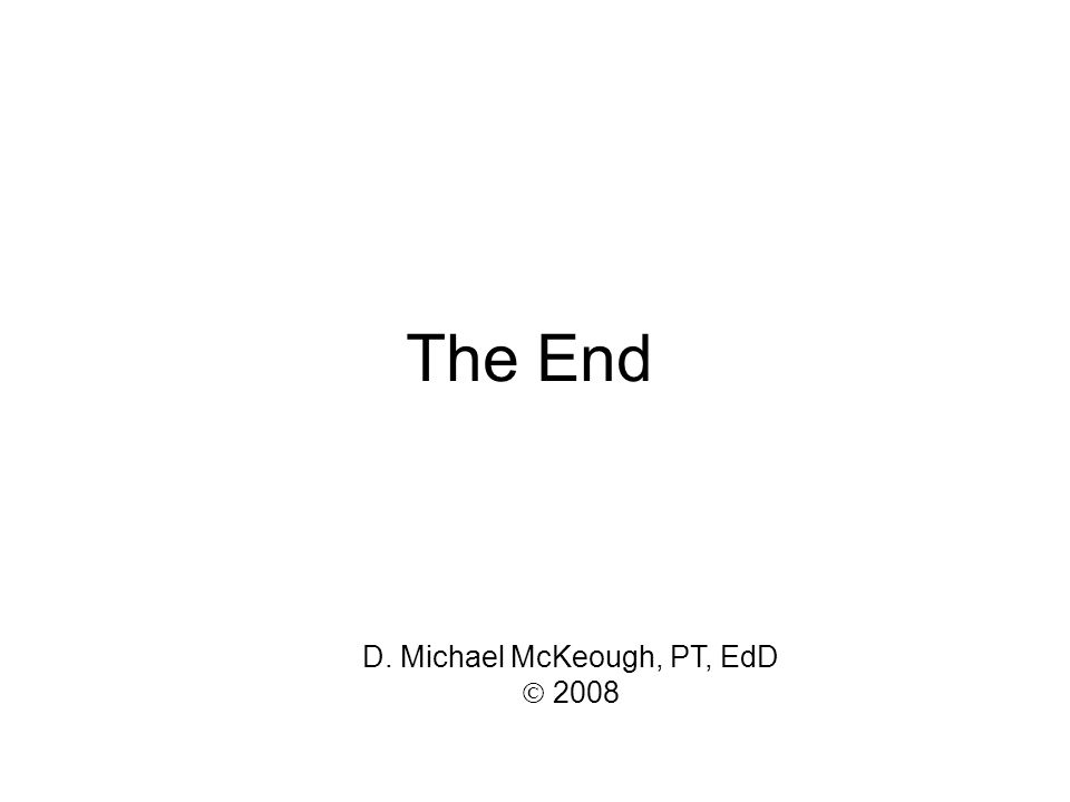 D. Michael McKeough, PT, EdD