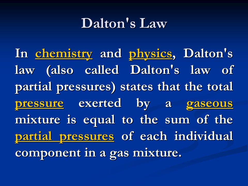 Dalton s Law