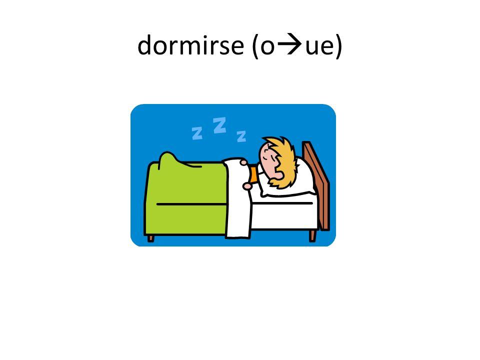 dormirse (oue)