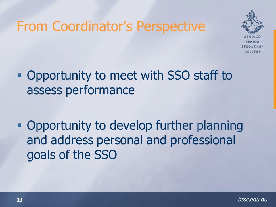 From Coordinator's Perspective