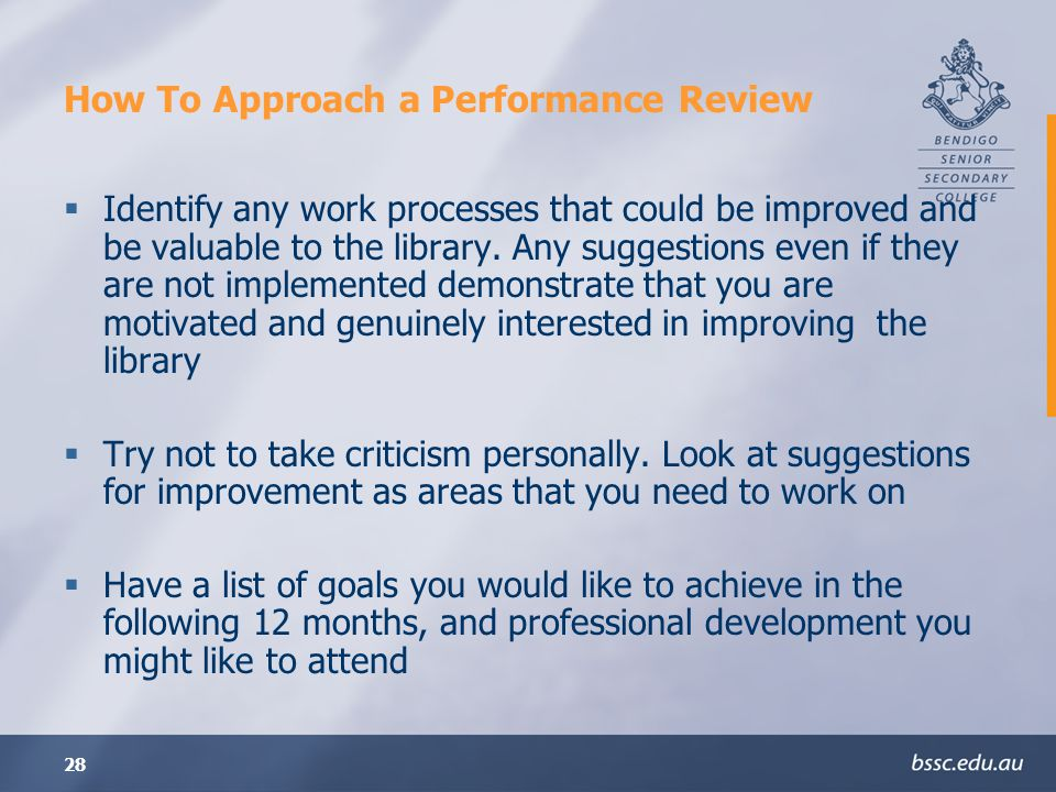 How To Approach a Performance Review
