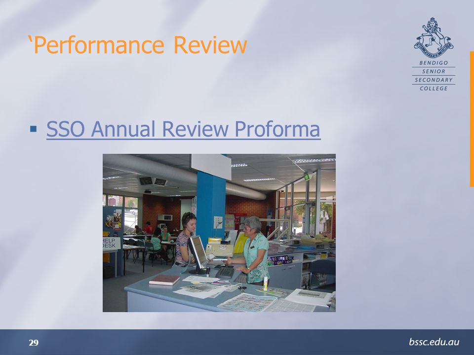 'Performance Review SSO Annual Review Proforma