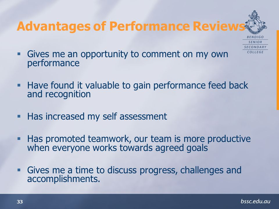 Advantages of Performance Reviews