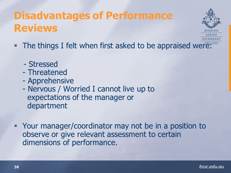 Disadvantages of Performance Reviews