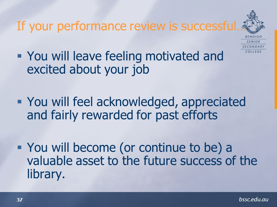 If your performance review is successful…