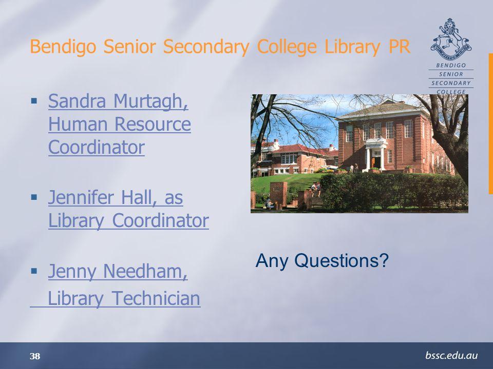 Bendigo Senior Secondary College Library PR