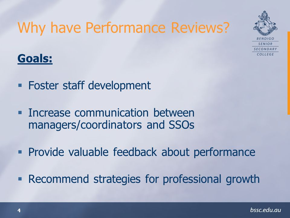 Why have Performance Reviews