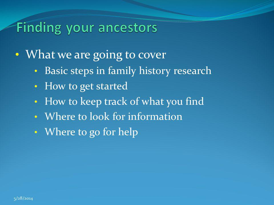 Finding your ancestors