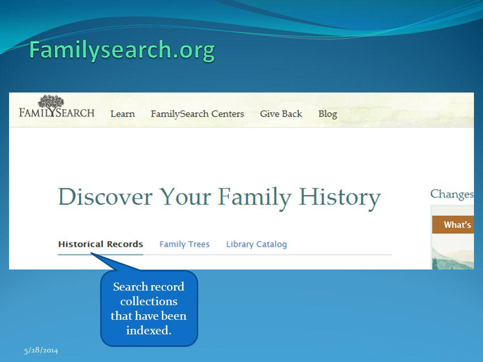 Search record collections that have been indexed.