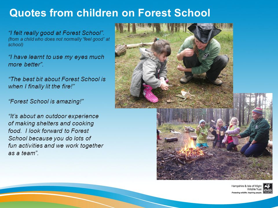 Quotes from children on Forest School
