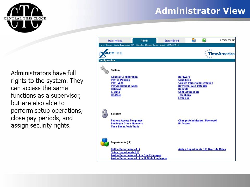 Administrator View