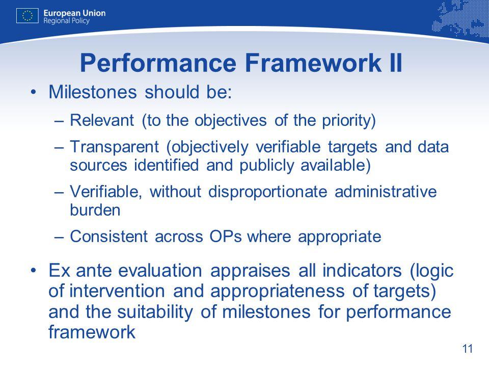 Performance Framework II