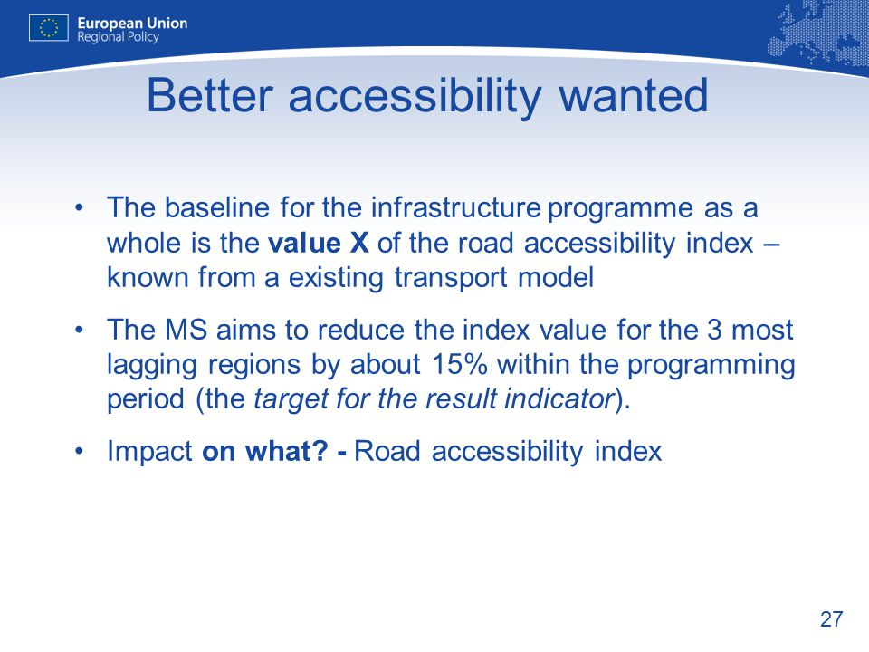 Better accessibility wanted