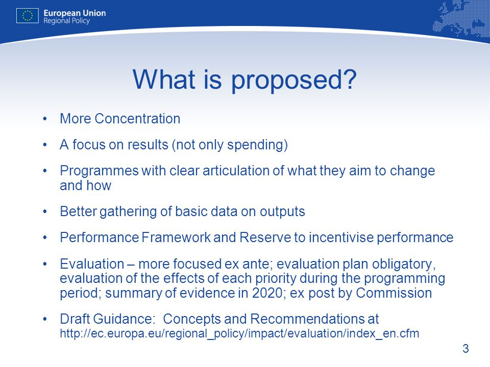 What is proposed More Concentration