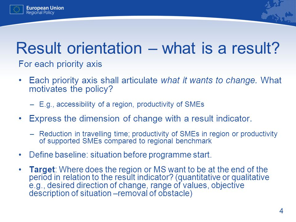Result orientation – what is a result