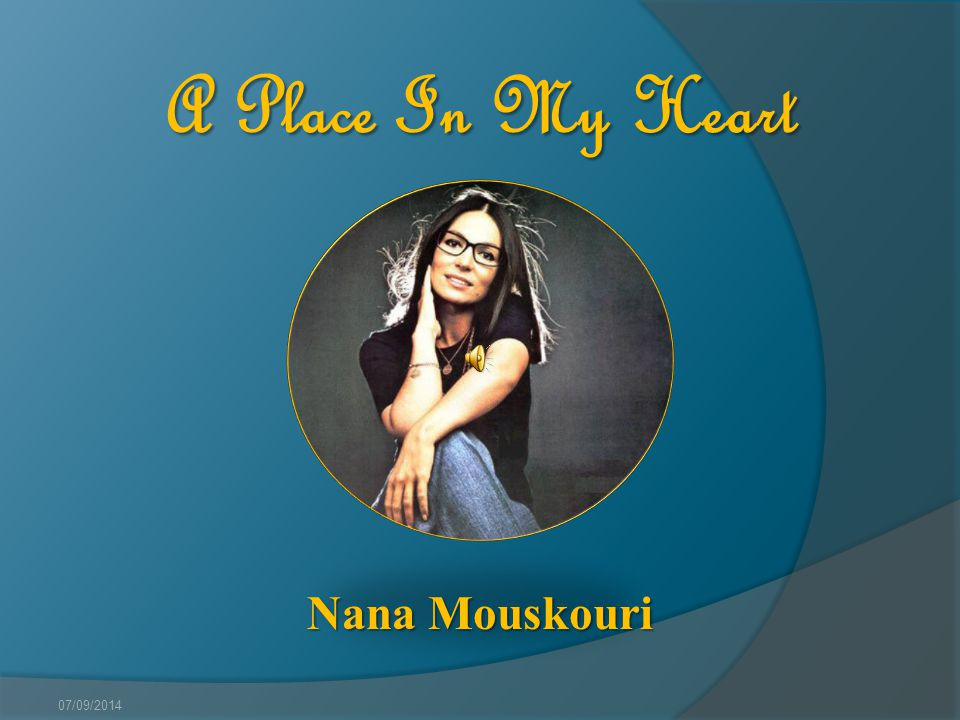 A Place In My Heart Nana Mouskouri 31/03/2017