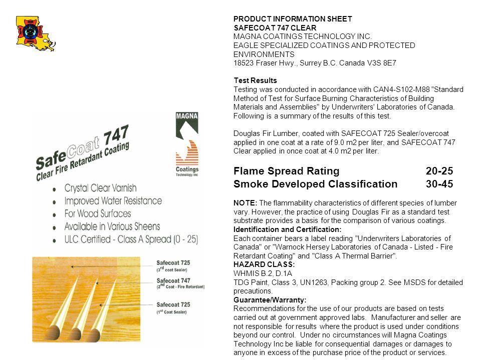 Smoke Developed Classification 30-45