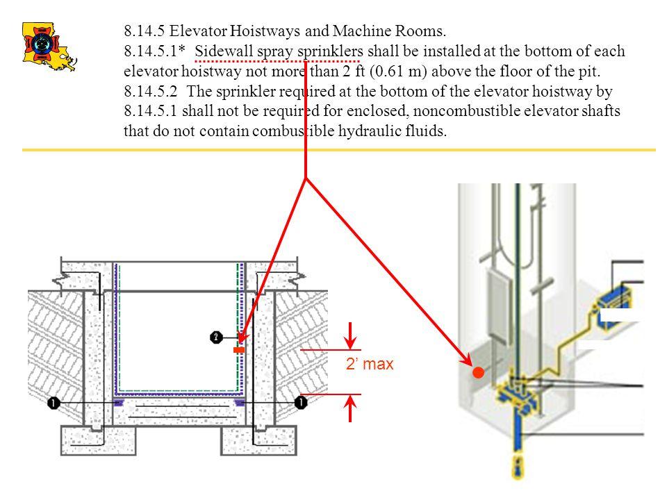 8.14.5 Elevator Hoistways and Machine Rooms.