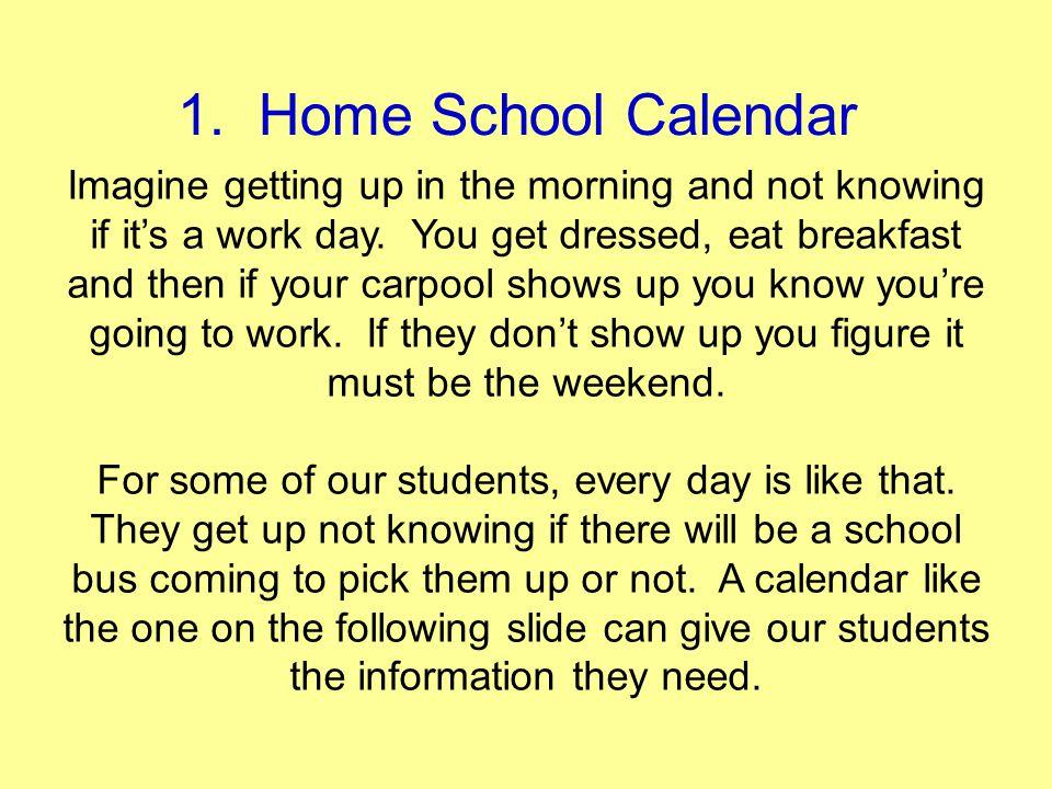 1. Home School Calendar