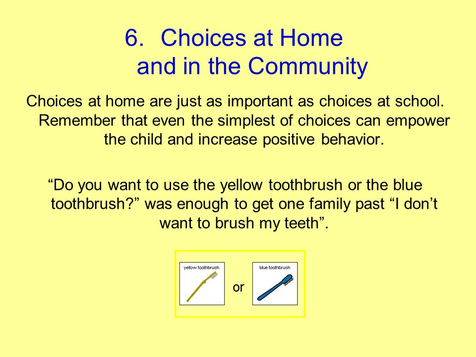 Choices at Home and in the Community