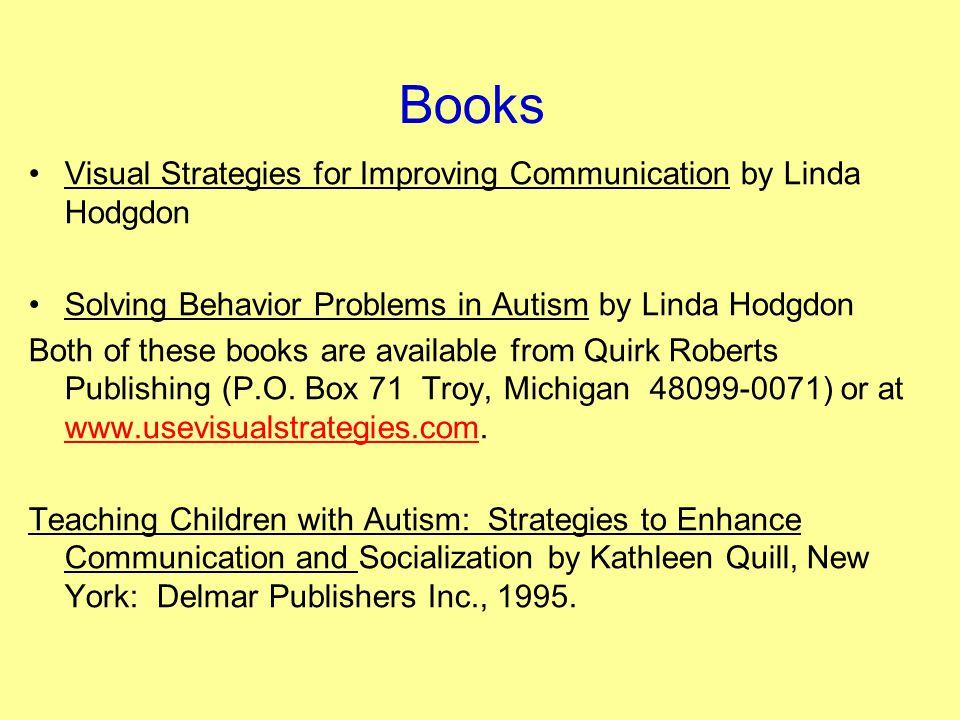 Books Visual Strategies for Improving Communication by Linda Hodgdon