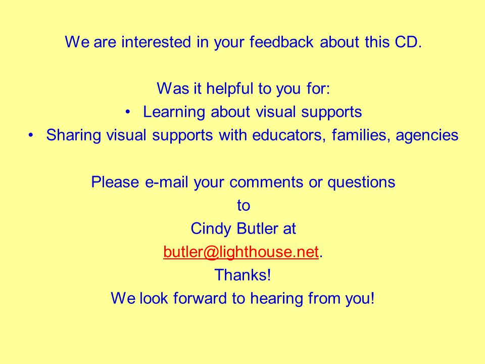 We are interested in your feedback about this CD.