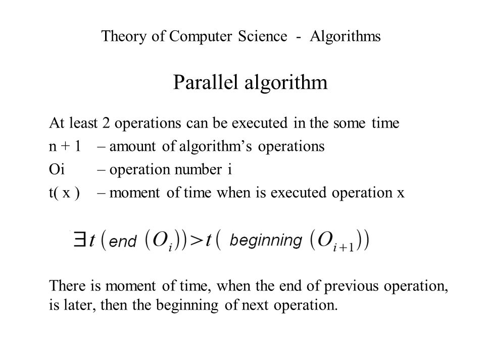 Theory of Computer Science - Algorithms