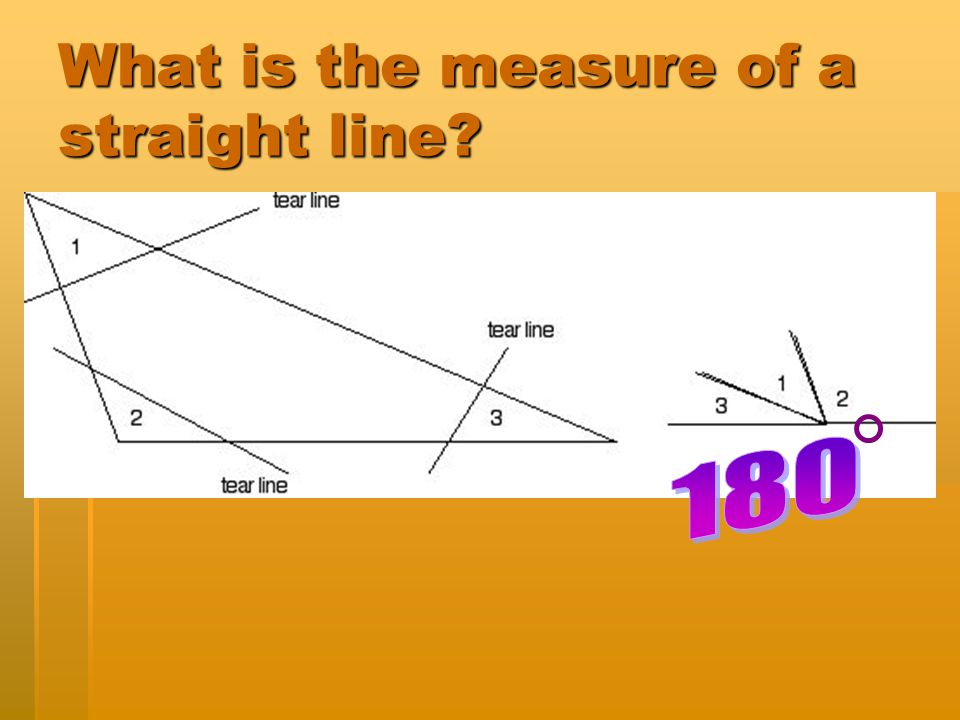 What is the measure of a straight line