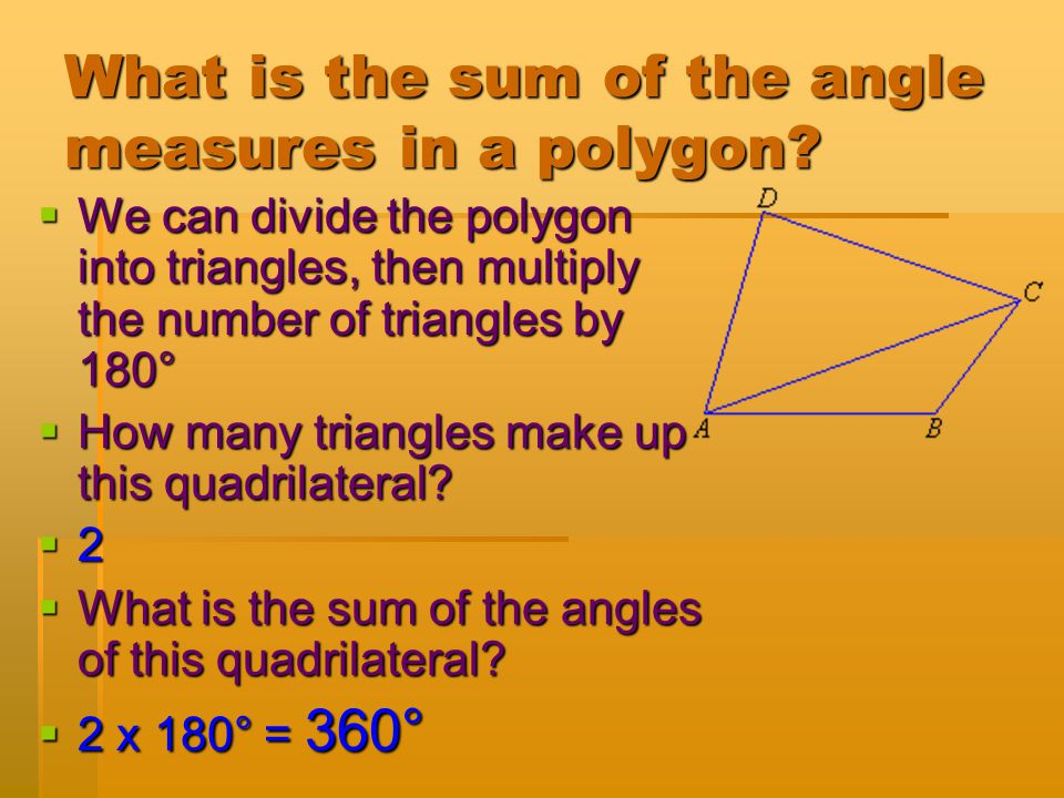 What is the sum of the angle measures in a polygon