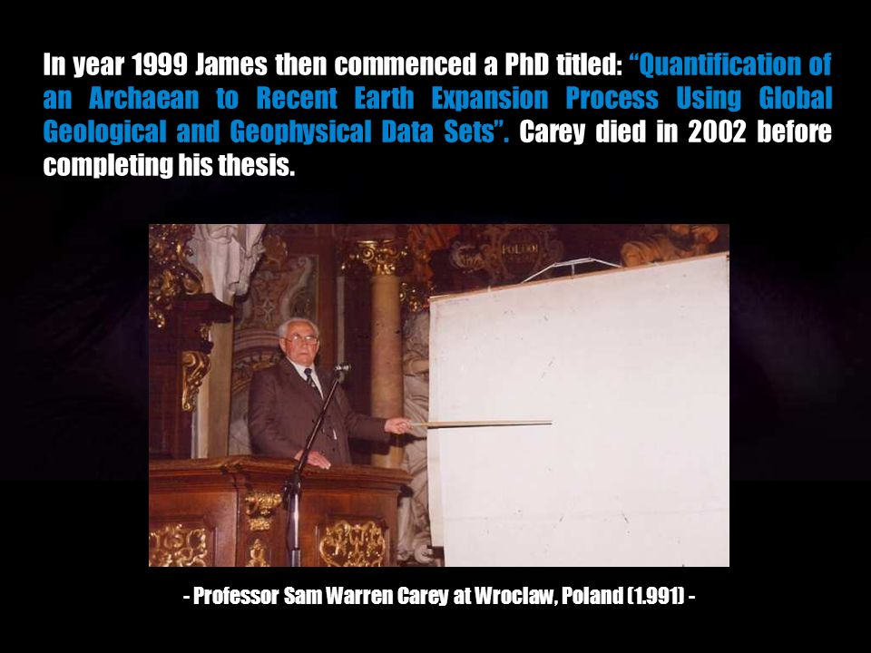 - Professor Sam Warren Carey at Wroclaw, Poland (1.991) -