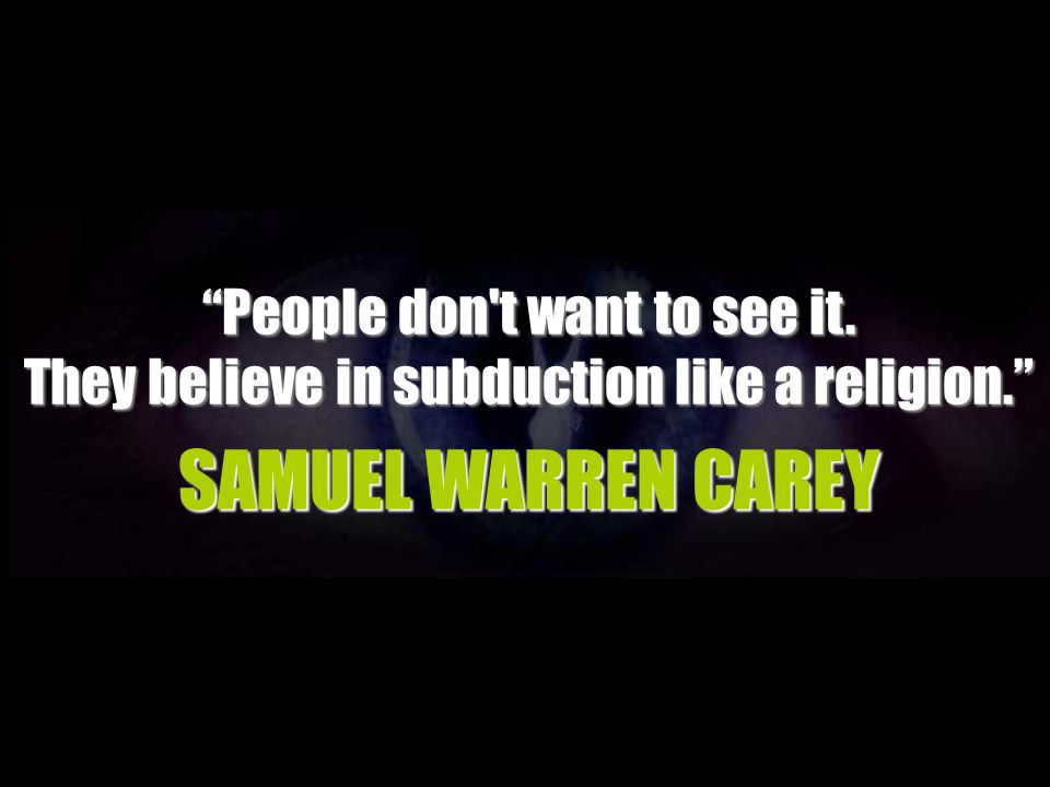SAMUEL WARREN CAREY People don t want to see it.