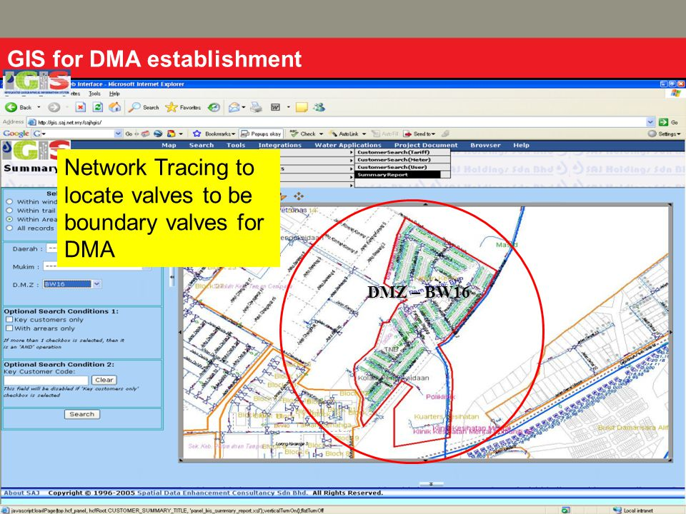 GIS for DMA establishment