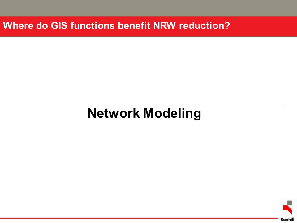 Where do GIS functions benefit NRW reduction