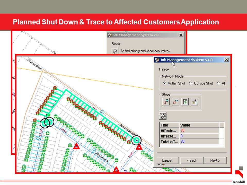 Planned Shut Down & Trace to Affected Customers Application