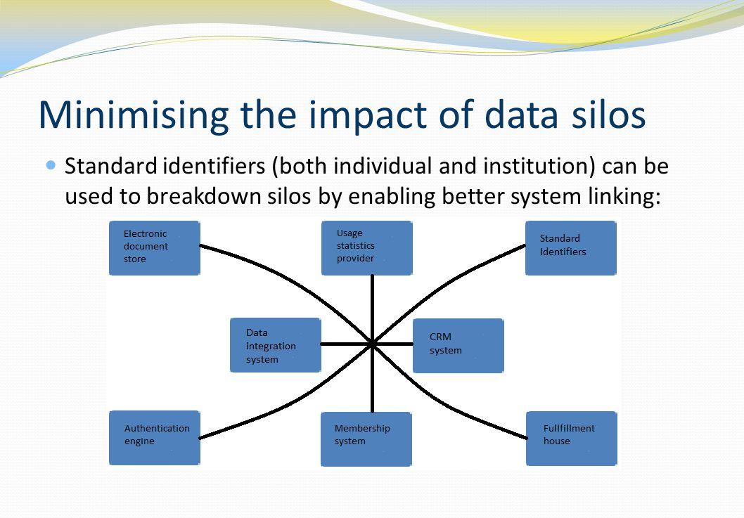 Minimising the impact of data silos