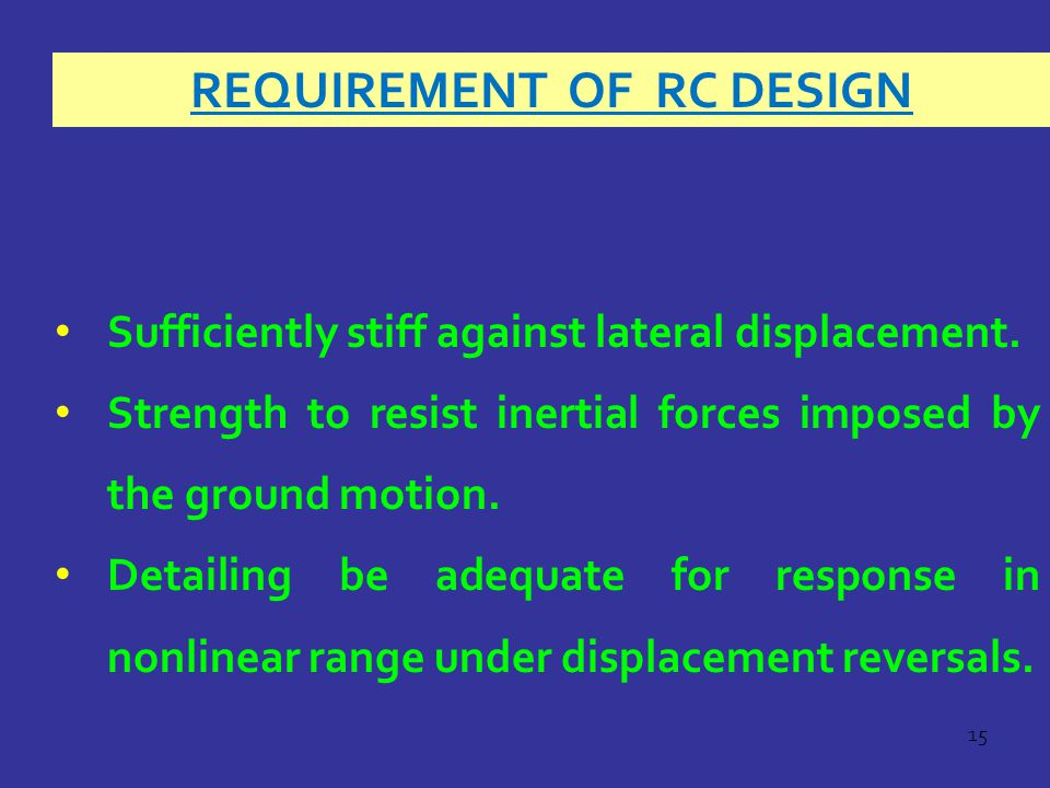 Requirement of RC Design