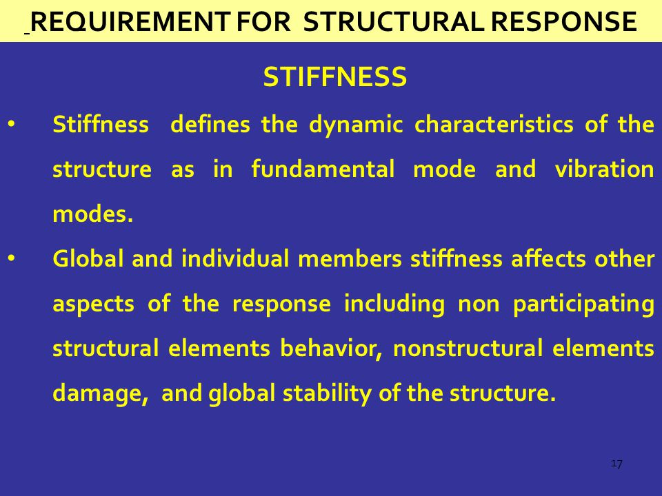 Requirement for structural Response