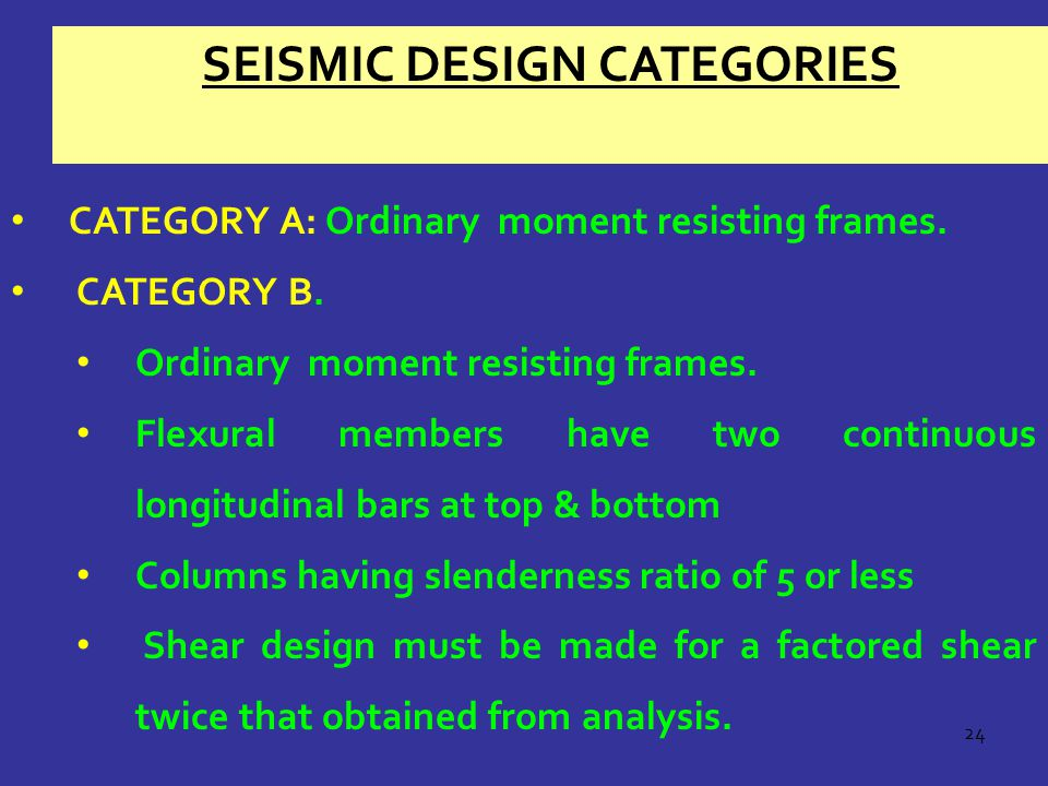 Seismic Design Categories