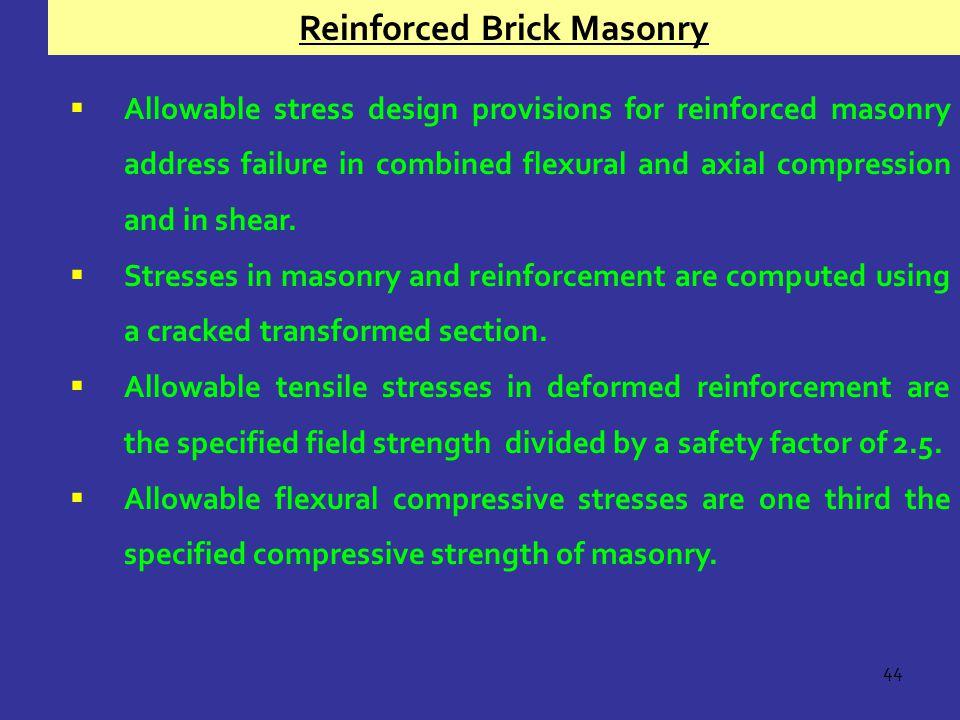 Reinforced Brick Masonry