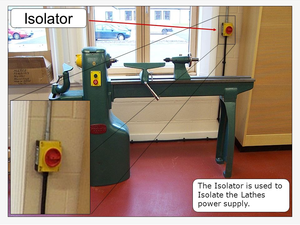 Isolator Copper The Isolator is used to Isolate the Lathes power supply.
