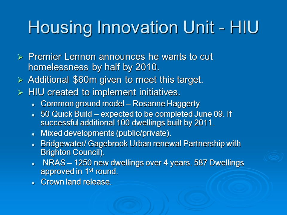 Housing Innovation Unit - HIU