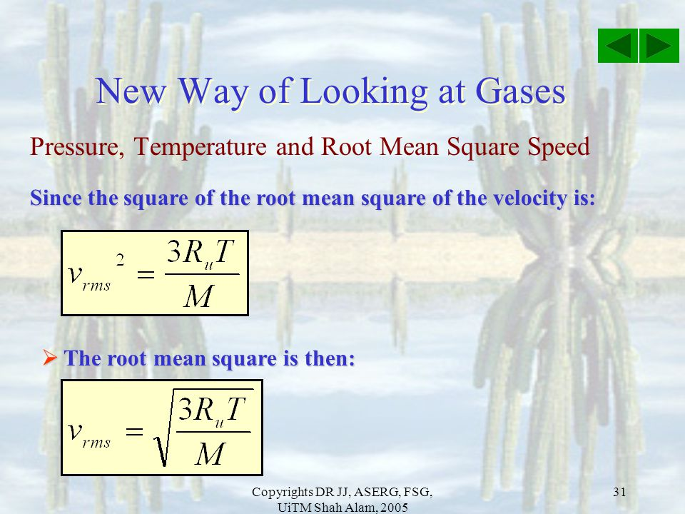 New Way of Looking at Gases