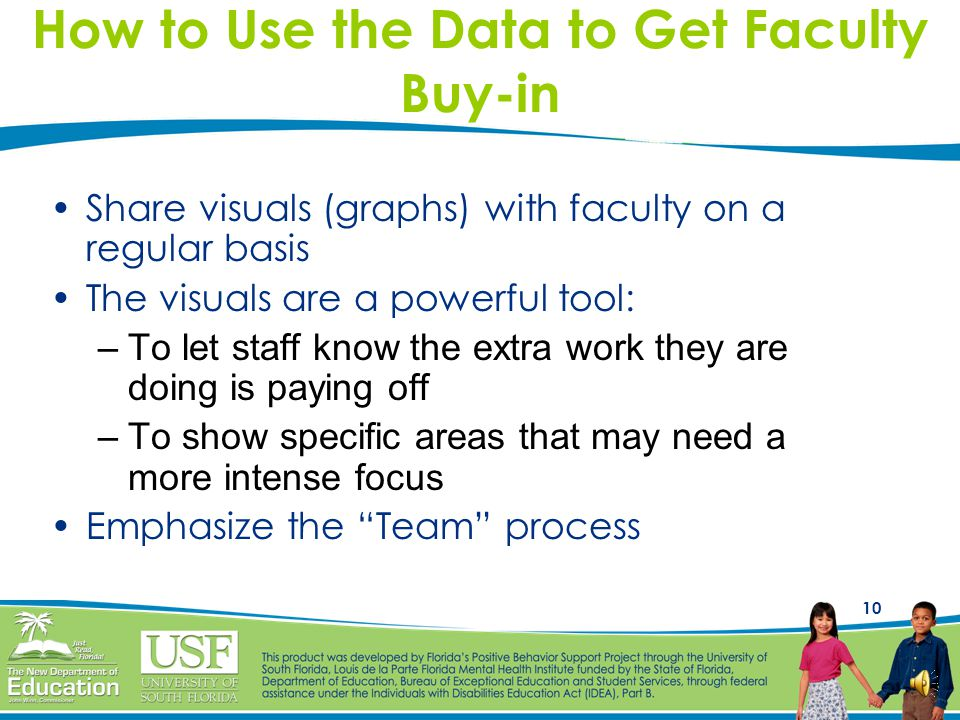 How to Use the Data to Get Faculty Buy-in