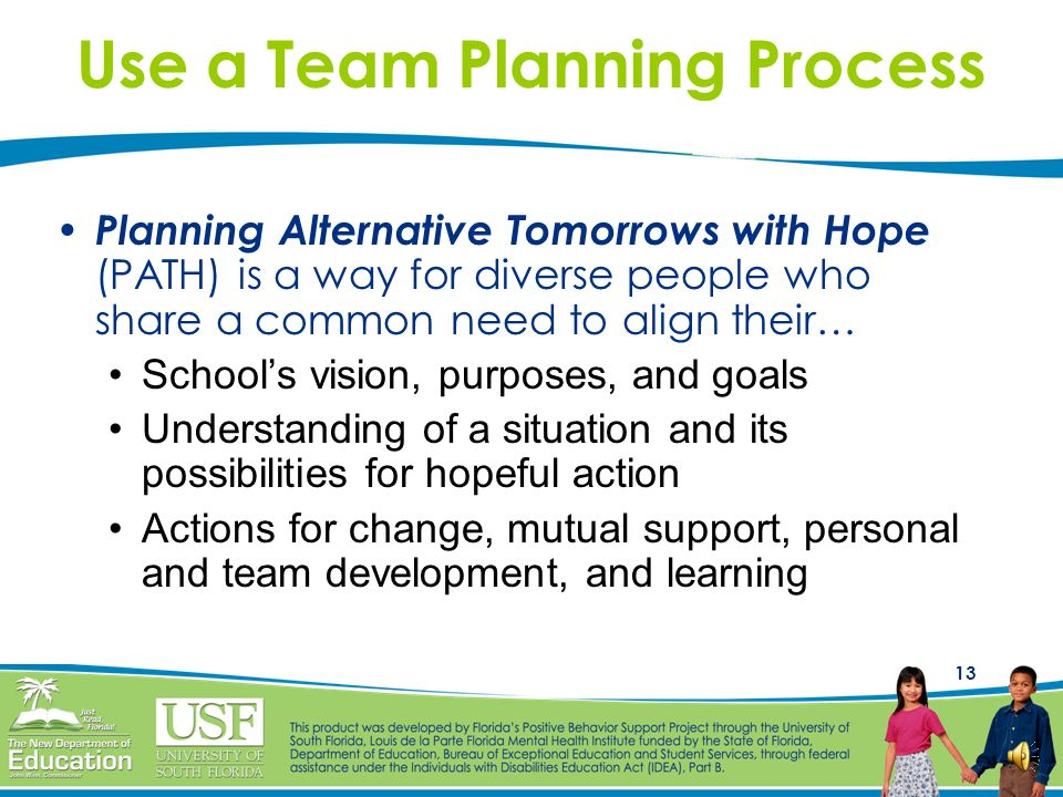 Use a Team Planning Process