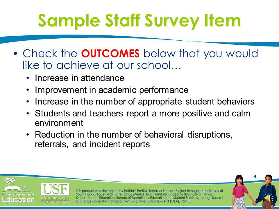 Sample Staff Survey Item